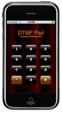 DTMF Pad : iPhone Application